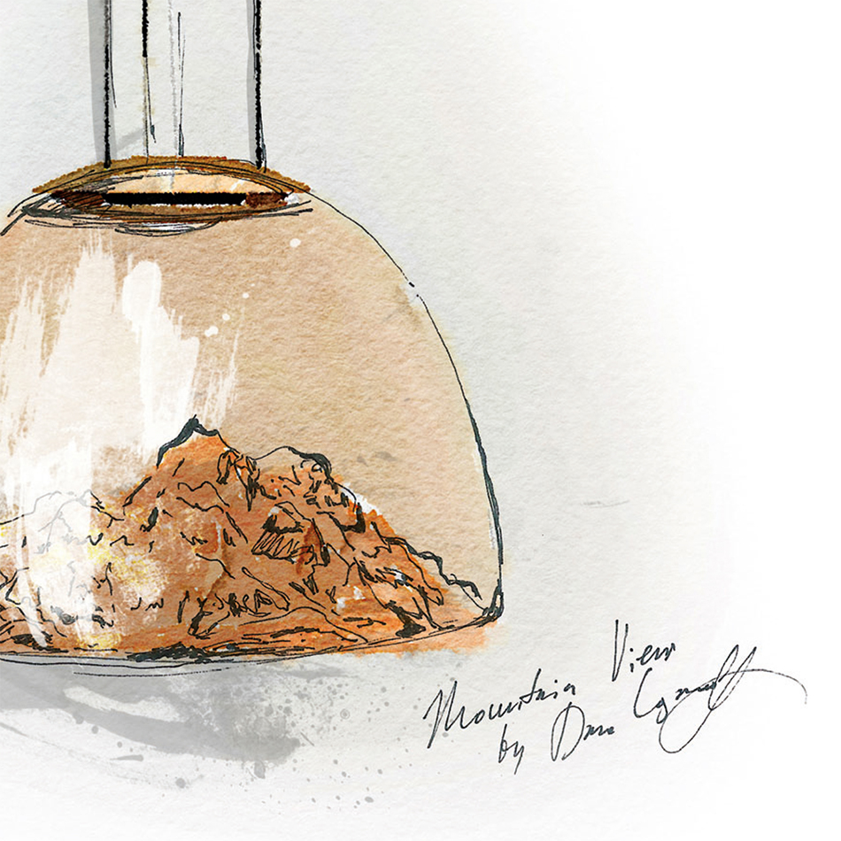 Mountain Light Pendant Sketch by Loginoff
