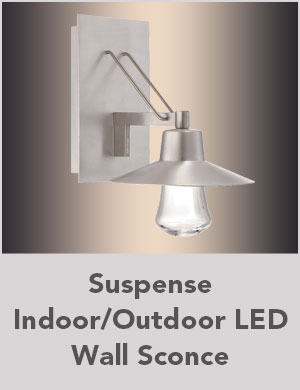 Suspense Indoor/Outdoor LED Wall Sconce
