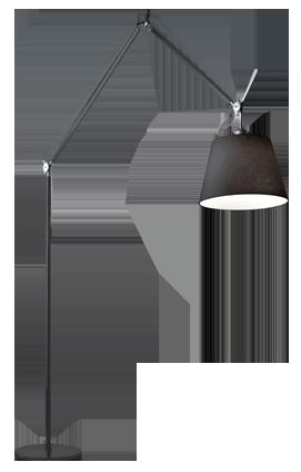 Tolomeo Mega Black Floor Lamp
