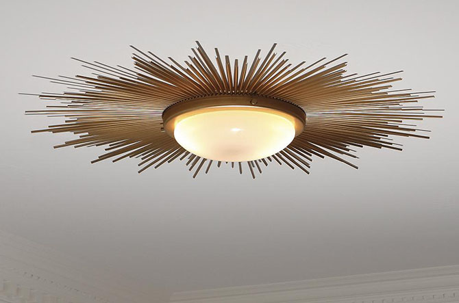 Sunburst Flushmount by Global Views