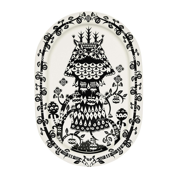 Taika Serving Platter Black by Iittala.