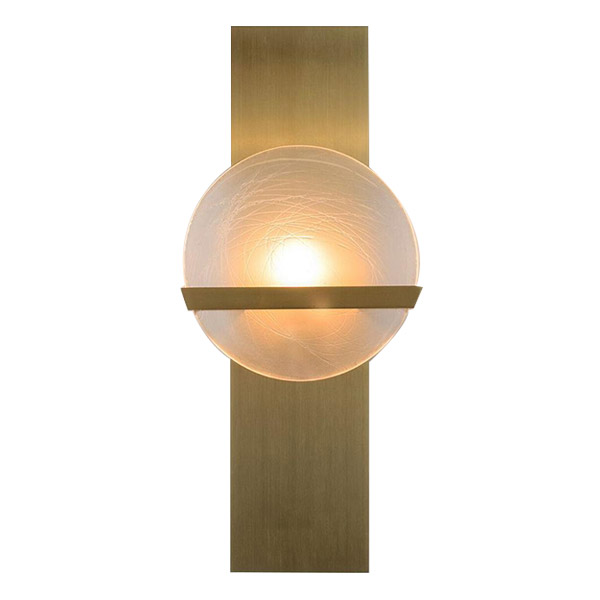 Lunette Rectangular Wall Sconce by Ridgely Studio.