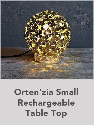 Ortenzia Small Rechargeable Table Top