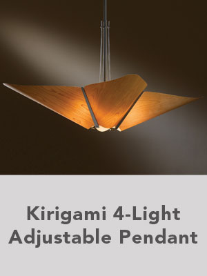 Kirigami 4-Light Adjustable Pendant