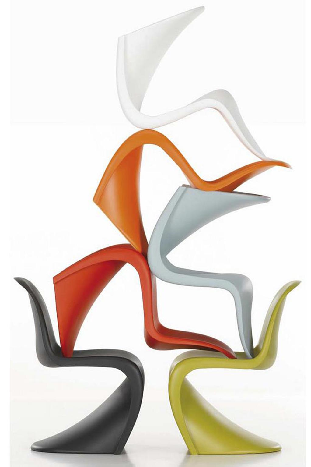 Verner Panton's Panton Chair (1999) for Vitra