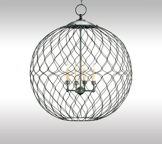 Simpatico Orb Chandelier By Currey & Company
