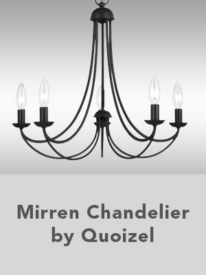 Mirren Chandelier by Quoizel