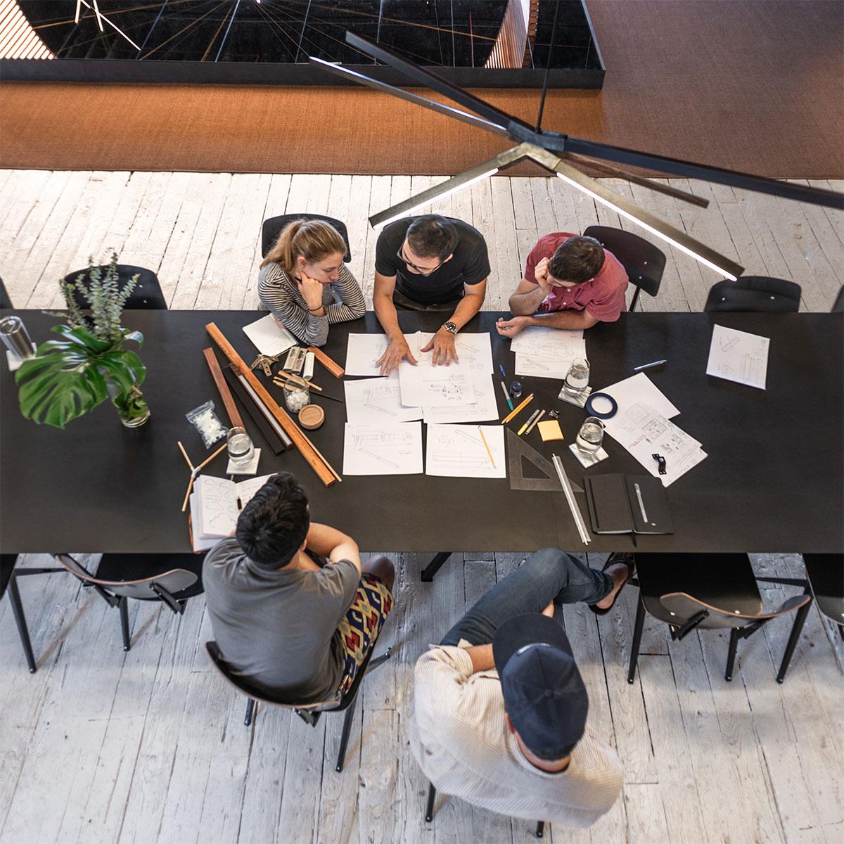 Stickbulb's design team in their New York City studio.