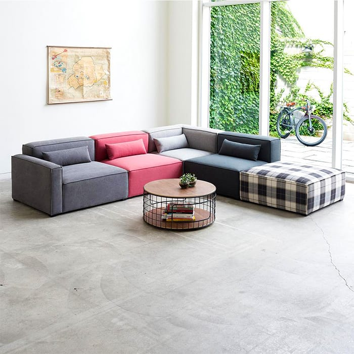 Mix Modular 5 Piece Sectional Sofa Collection by Gus* Modern