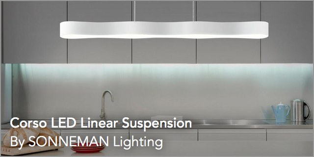 Corso LED Linear Suspension by Sonneman Lighting