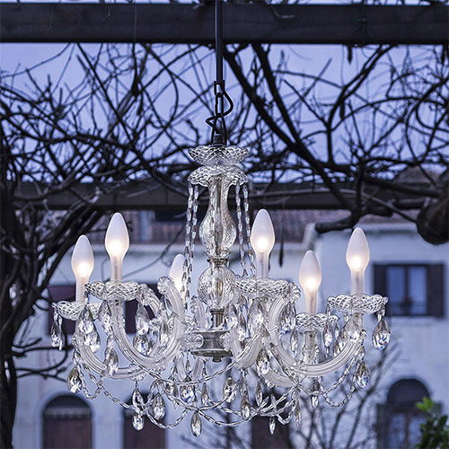 Drylight Small LED Outdoor Chandelier By Studio Stile Masiero for Masiero
