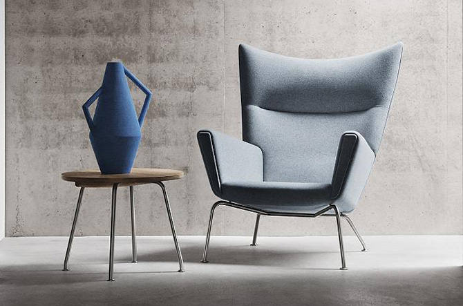 CH445 Wing Lounge Chair by Carl Hansen