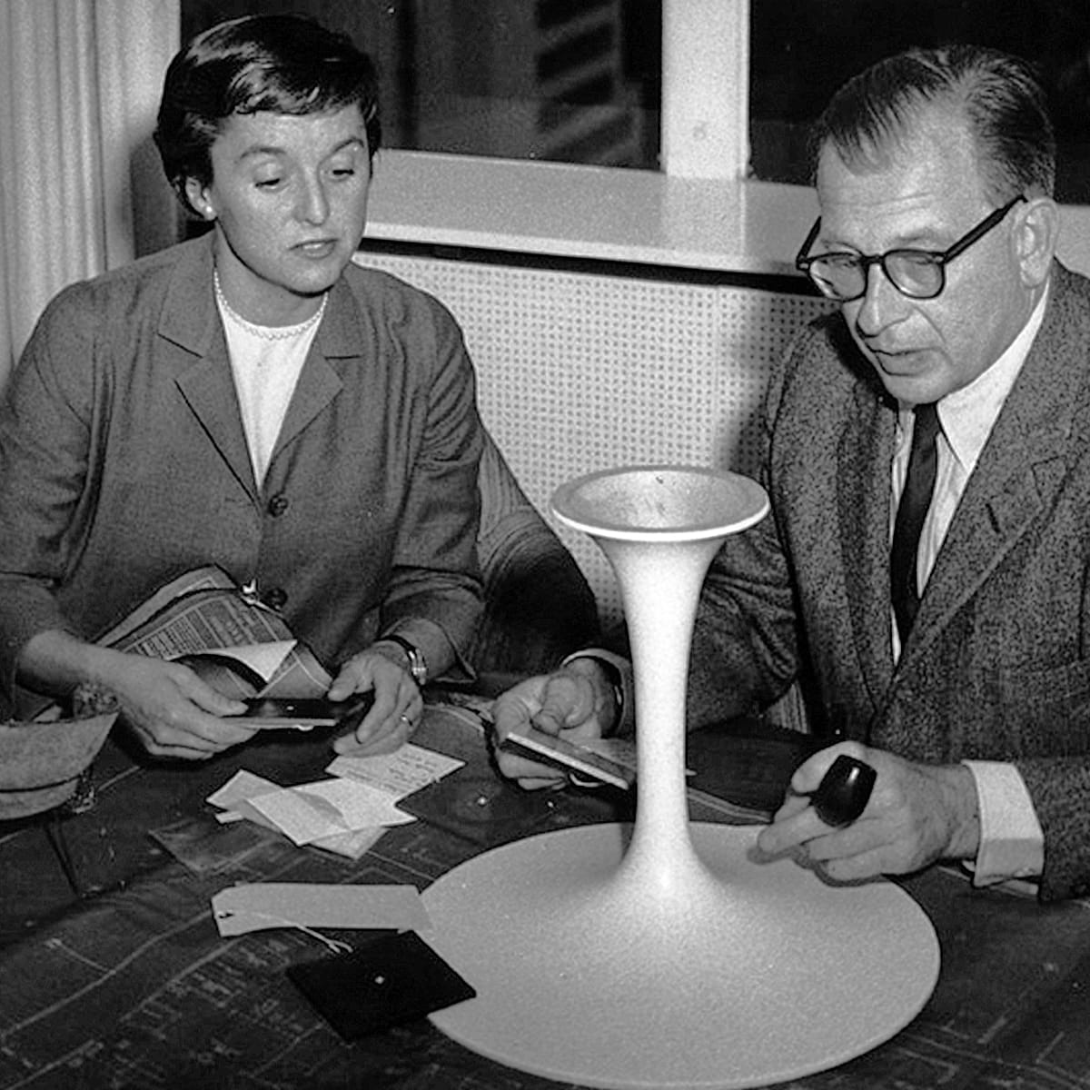 Florence Knoll with Eero Saarinen, Courtesy of Knoll, Inc.