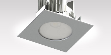 ECORENO LED 4 inch Square Shower Trim by Contrast Lighting