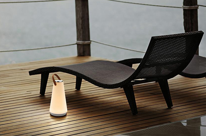 Uma Sound LED Mini Table Lamp by Pablo Designs