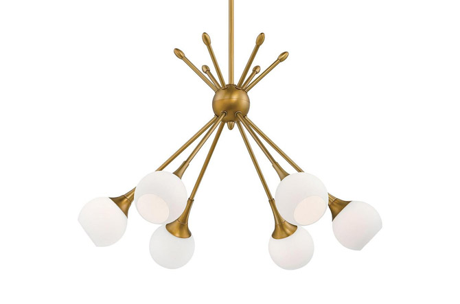 Pontil 6-Light Chandelier by George Kovacs