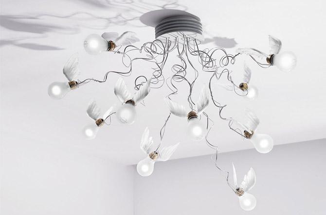 Birdie's Nest Ceiling Light by Ingo Maurer