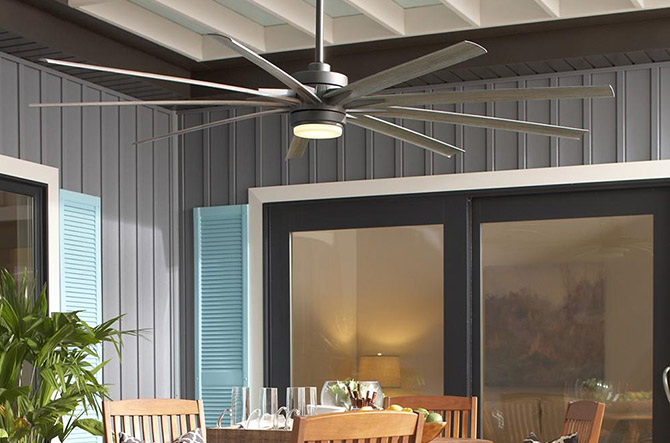 Odyn LED Indoor/Outdoor Ceiling Fan by Fanimation