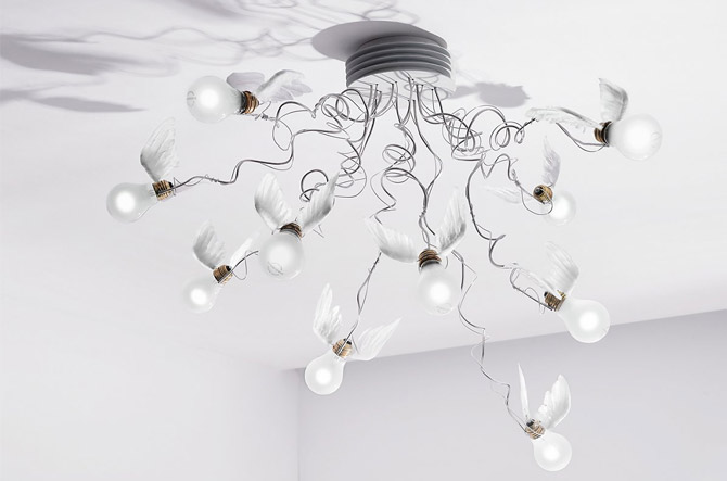 Birdie's Nest Ceiling Light by Ingo Maurer