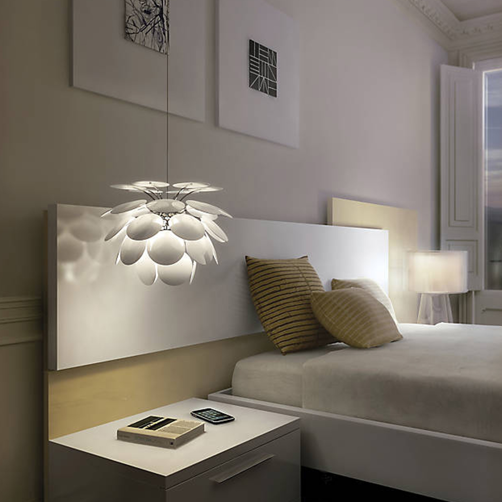 Trends To Try: Pendant Lights Over Bedside Tables at Lumens.com