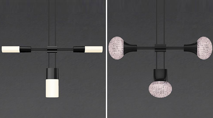 Triple cluster luminaires - SONNEMAN Suspenders™ System