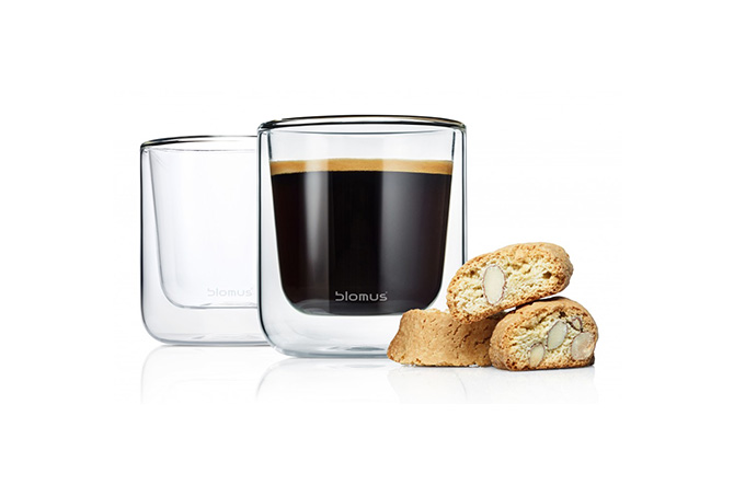Nero Insulated Coffee Glasses by Blomus