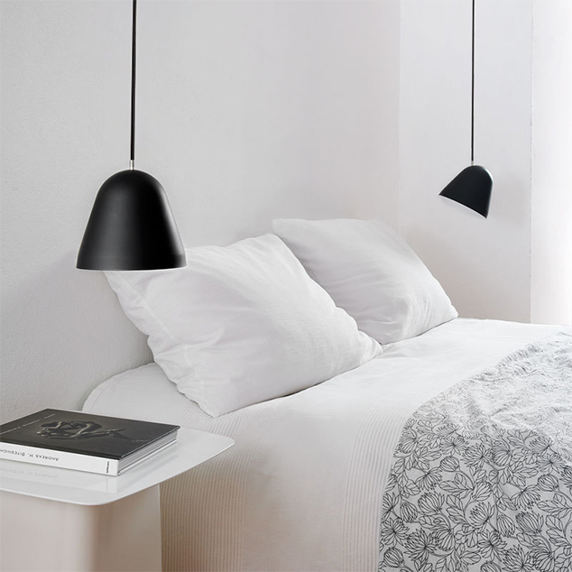 Trend to Try: Bedside Pendant Lighting.