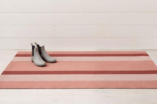 Bold Stripe Shag Doormat by Chilewich