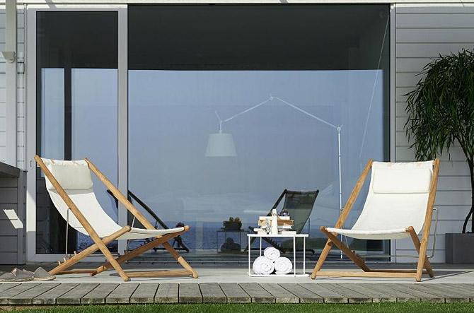 H55 Folding Lounge Chair by Skargaarden