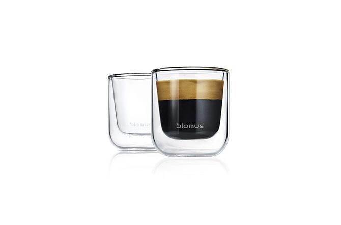 NERO Insulated Espresso Glasses by Blomus.