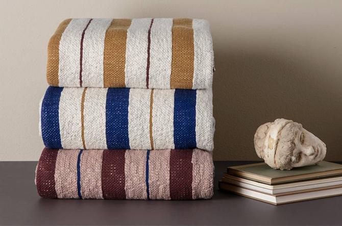 Pinstripe Blanket by Ferm Living.