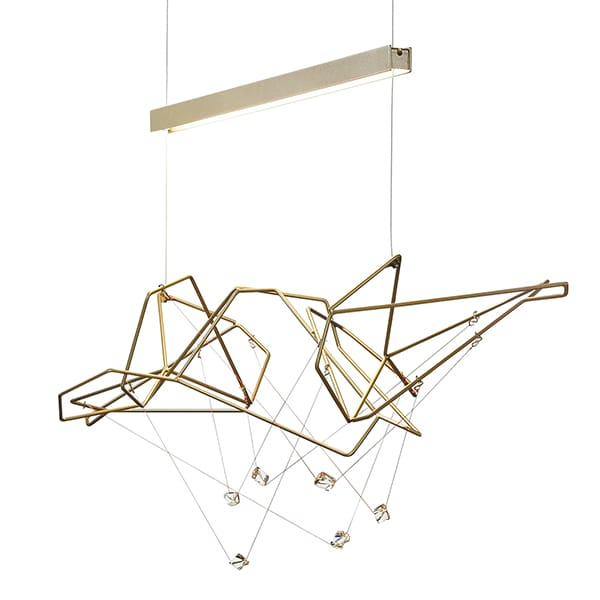 Terra LED Linear Suspension by Synchronicity by Hubbardton Forge