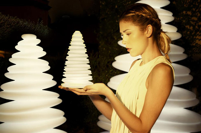 Modern and Merry and Bright: Chrismy LED Trees by Vondom