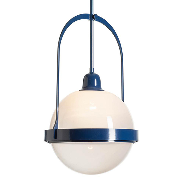 Atlas Glass Navy Pendant by Hubbardton Forge.