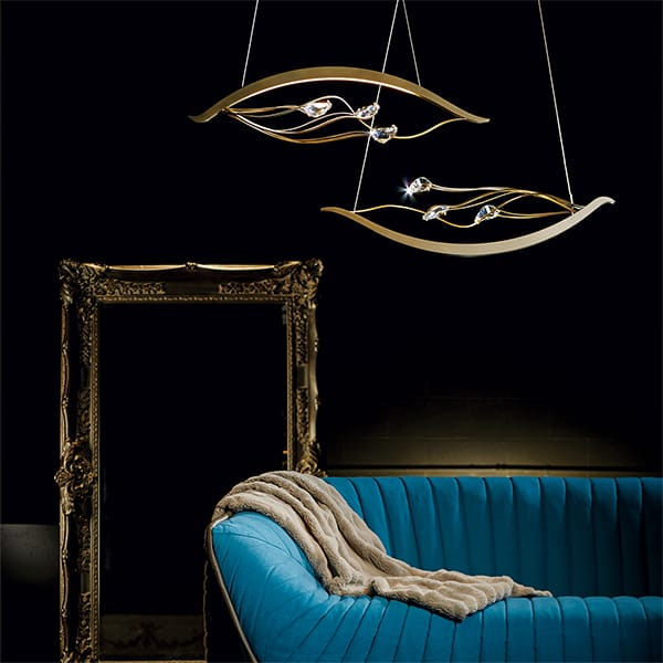 Courbé Duet LED Pendant by Synchronicity by Hubbardton Forge
