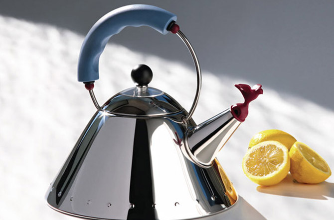Kettle with Bird Whistle by Michael Graves for Alessi