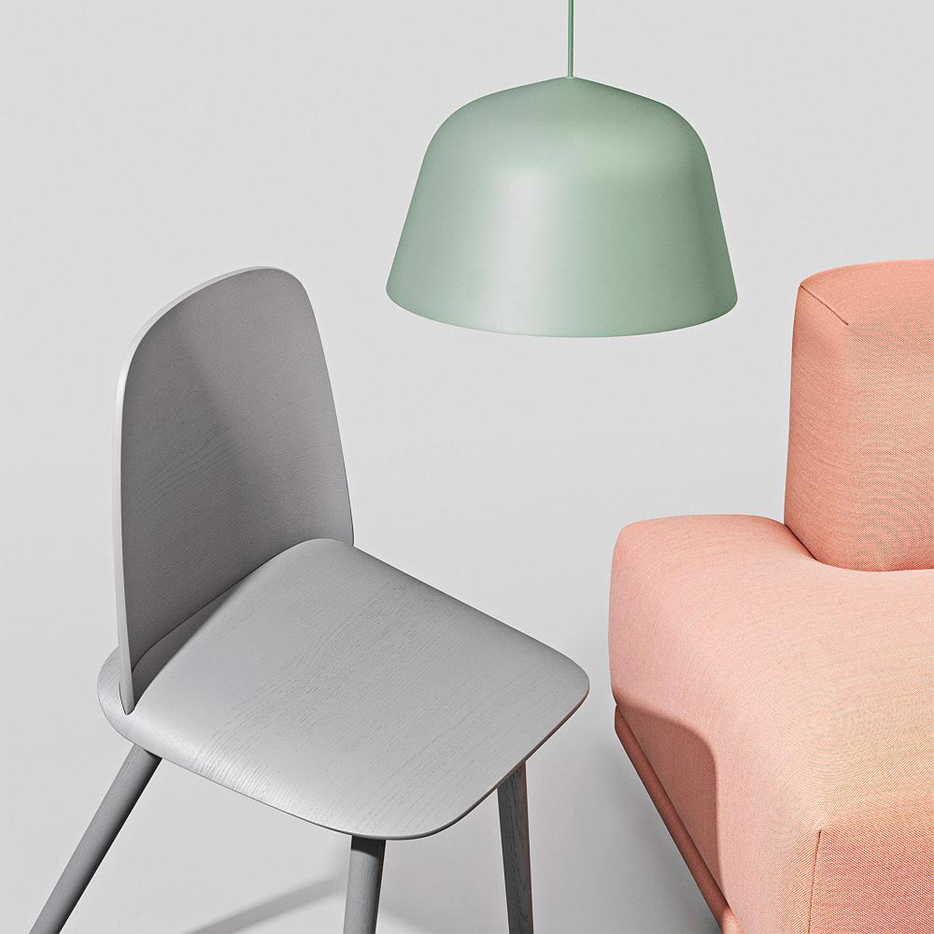 Ambit Pendant and Nerd Chair by Muuto