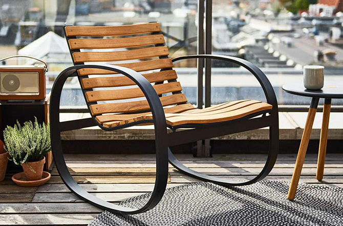 Parc Rocking Chair by Cane-line