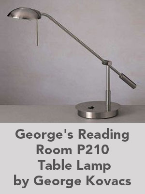 George's Reading Room P210 Table Lamp by George Kovacs