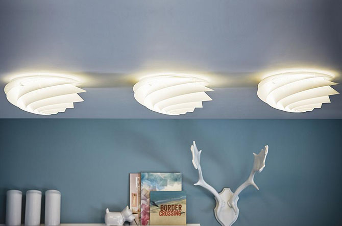 Swirl 1320 Ceiling/Wall Lamp by Oivind Slaatto for Le Klint