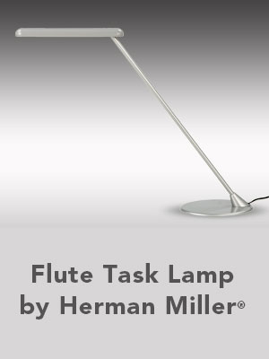 Flute Task Lamp by Herman Miller