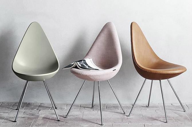 Drop Chair – Upholstered by Fritz Hansen