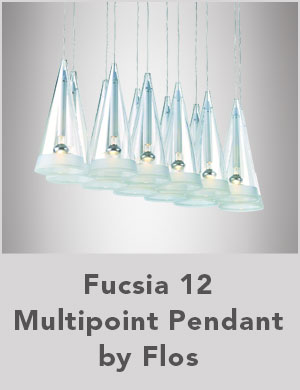 Fucsia 12 Multipoint Pendant by Flos