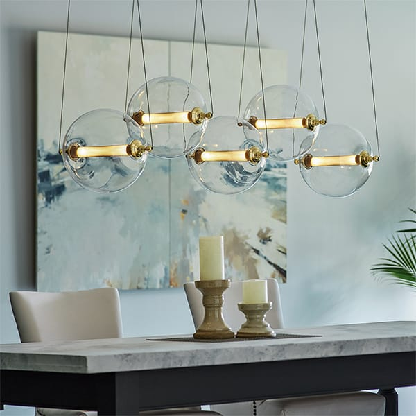 Otto Sphere Linear Suspension by Hubbardton Forge