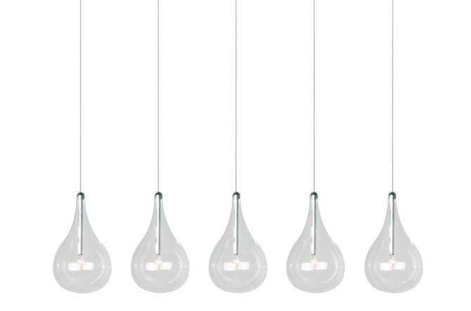 Larmes 5-Light Linear Suspension by ET2 Lighting