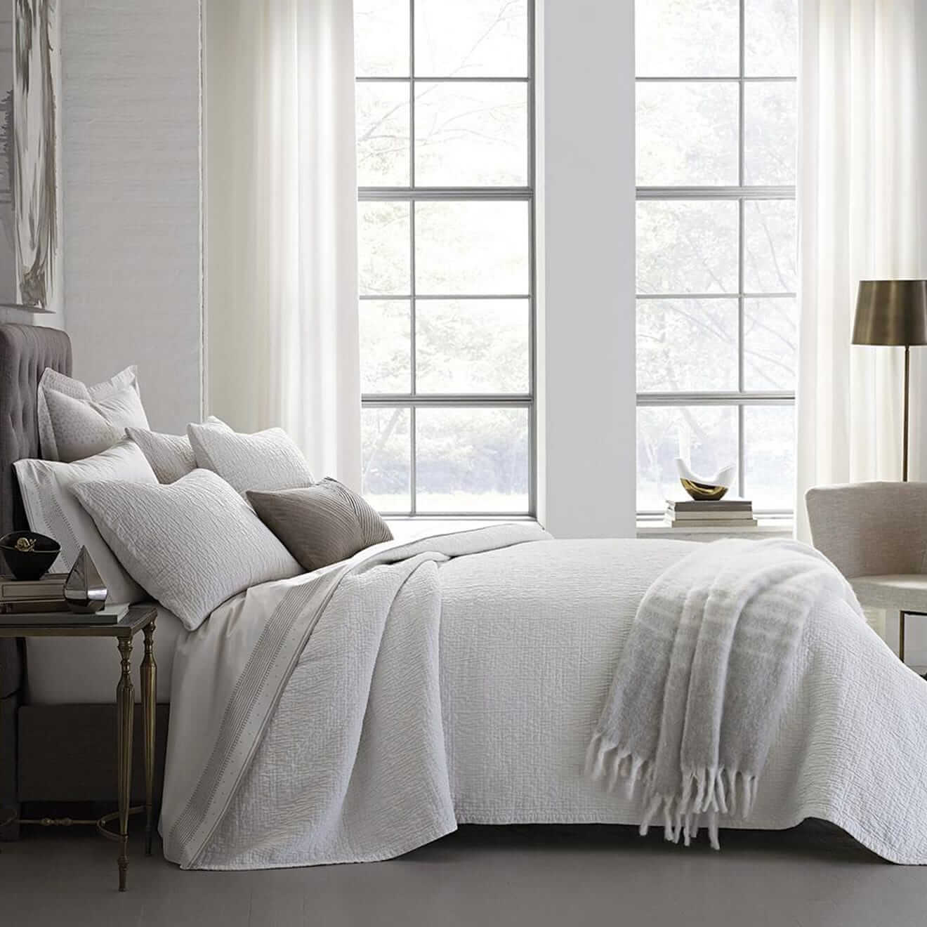 Woodgrain Matelasse Coverlet by DwellStudio