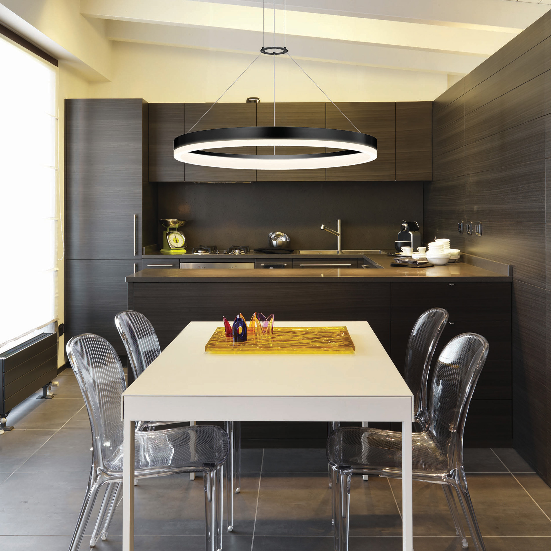 Corona LED Ring Pendant By SONNEMAN Lighting
