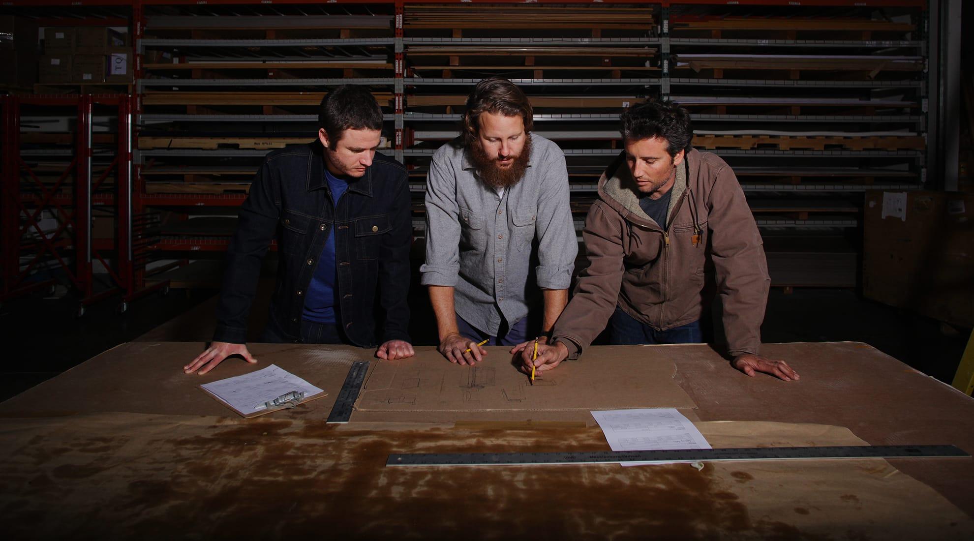 Cerno founders Bret Englander, Nick Sheridan and Daniel Wacholder.