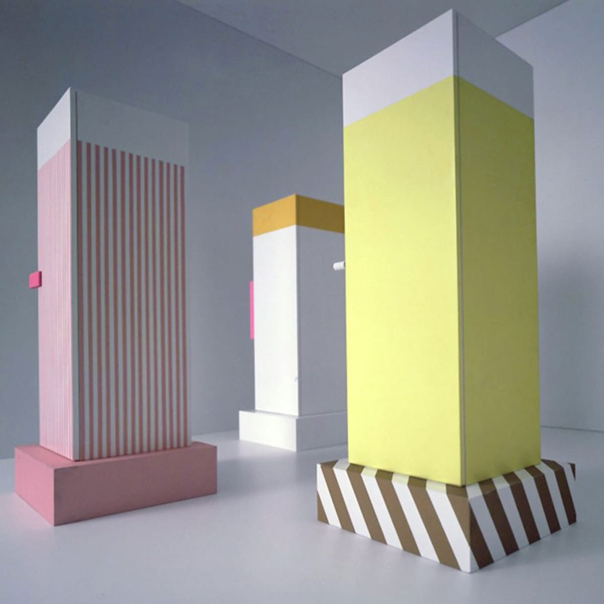 Sottsass' Superboxes, designed circa 1960 for Poltronova.