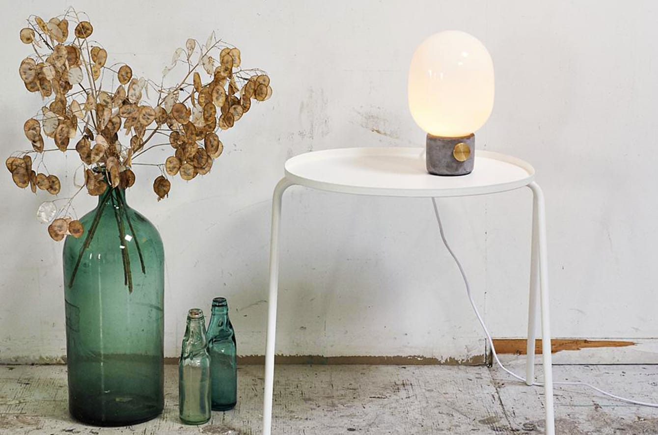 JWDA Concrete Table Lamp by Menu